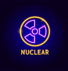 Nuclear neon label vector
