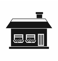 One storey house with two windows icon vector image