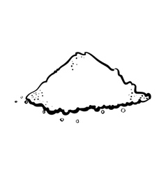 Outline pile salt culinary kitchen vector