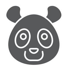 panda glyph icon animal and zoo vector image