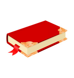 red book with golden corners vintage design vector image