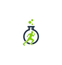 research run logo icon design vector image
