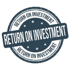Return on investment grunge rubber stamp vector