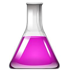 Science beaker on white vector