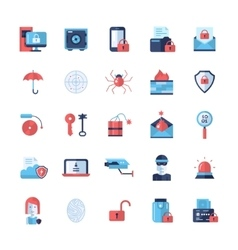 Security protection modern flat design icons and vector