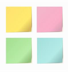 Set of color paper sticker vector