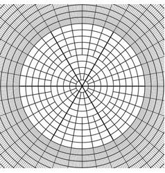 Sheet of polar graph paper vector
