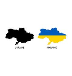 Silhouette ukraine on white color vector