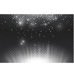 silver shining with glowing glitter shine light vector image