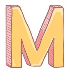 Single cartoon - the letter m vector
