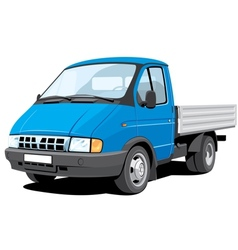 small cargo truck vector image