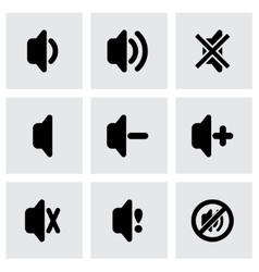 speaker icon set vector image