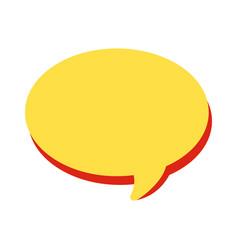 speech bubble white background vector image