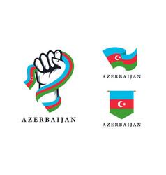 Spirit rising hand azerbaijan series set vector