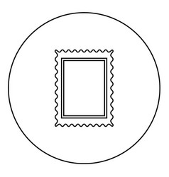 Stamp icon black color in circle vector