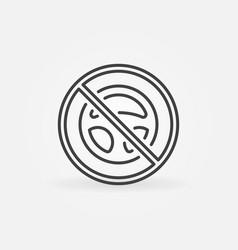 Steering wheel inside forbidden sign vector