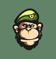 team logo with monkey vector image