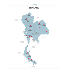 Thailand with red pin vector