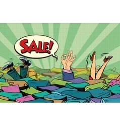 The season of holiday sales Sea shopping vector