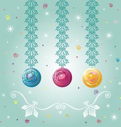 three christmastree balls vector image
