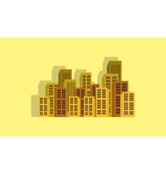 Town icon flat vector image