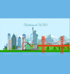 travel concept welcome to vector image