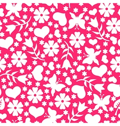 valentine day pattern pink vector image
