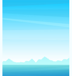 vertical postcard or poster seascape background vector image