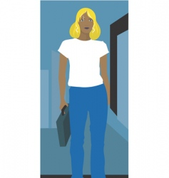 businesswoman walking vector image