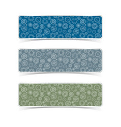 gear patterns banners set vector image vector image