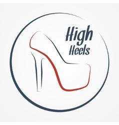 High heels logo vector image vector image