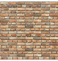 Old brick wall seamless background vector image vector image