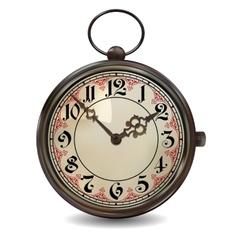 Rusty pocket watch vector