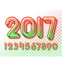 2017 snowball invitation vector image vector image