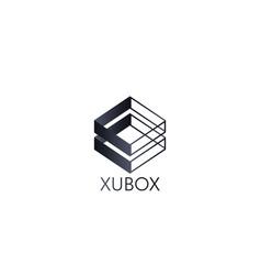 abstract box cube logo icon template blockchain vector image vector image