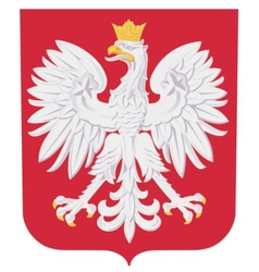 coat of arms of Poland vector image
