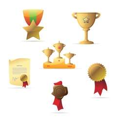Icons for awards vector image