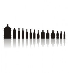 black bottles vector image vector image