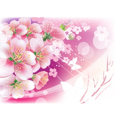 flowers against the sky vector image vector image