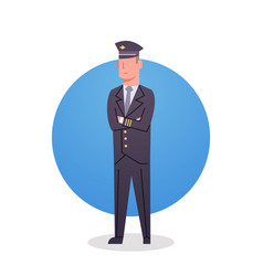 Pilot icon airport airline crew worker staff vector