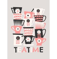 Retro Coffee Cups vector image