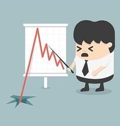 Shares fall vector