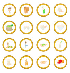 beer icon circle vector image vector image