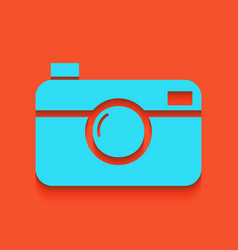 digital photo camera sign whitish icon on vector image vector image