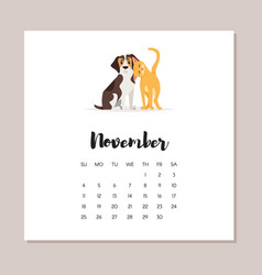 dog 2018 year calendar vector image