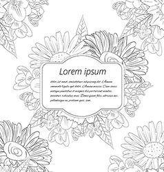 Greeting card on a white background vector image vector image