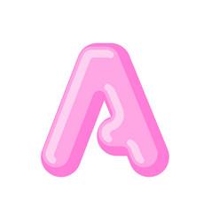 Letter a candy font caramel alphabet lollipop vector