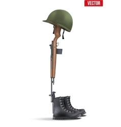 Memorial Battlefield Cross vector image vector image