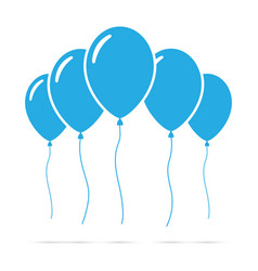 set of blue balloons vector image