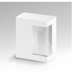 white blank cardboard rectangle realistic vector image vector image